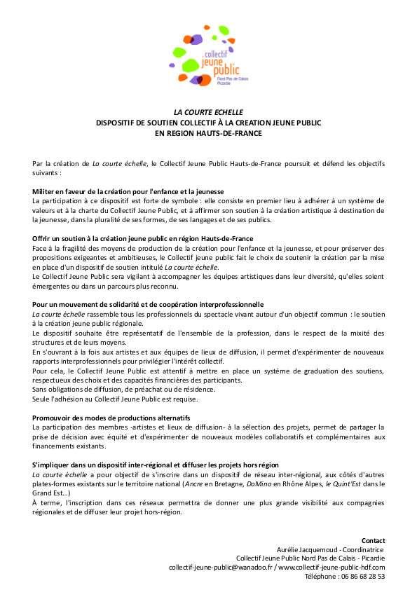 5 LA COURTE ECHELLE Charte 2016