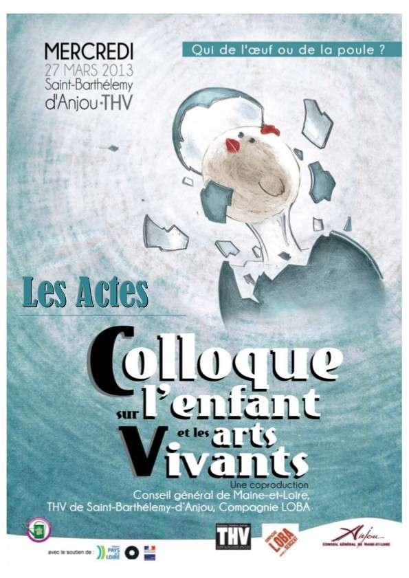 Actes Colloque JP Arts Vivants Mars 2013