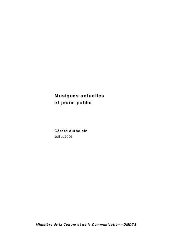 Authelain Rapport MAJP 2006