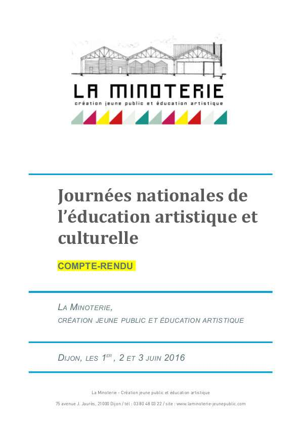 Actes Journees De L Eac Juin 2016 La Minoterie